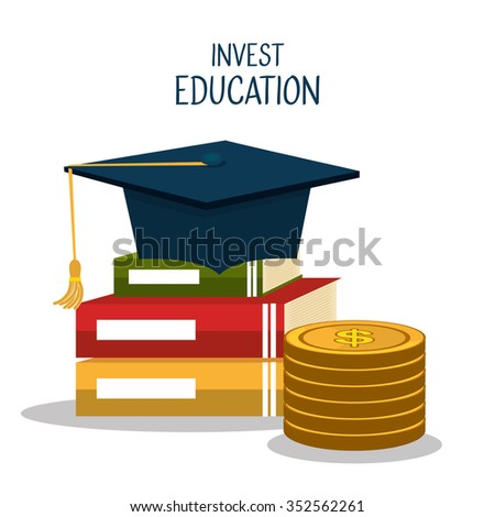 Education business investment graphic design, vector illustration