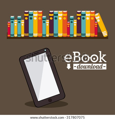 Education concept about the using of the ebooks, vector illustration eps 10 - stock vector