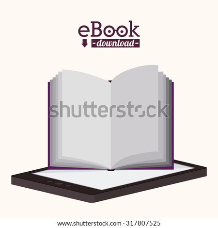 Education concept about the using of the ebooks, vector illustration eps 10