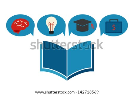 education concept icon design, vector - stock vector