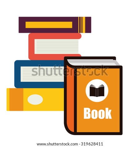 Education concept  over flat background with books icons design, vector illustration 10 eps graphic.