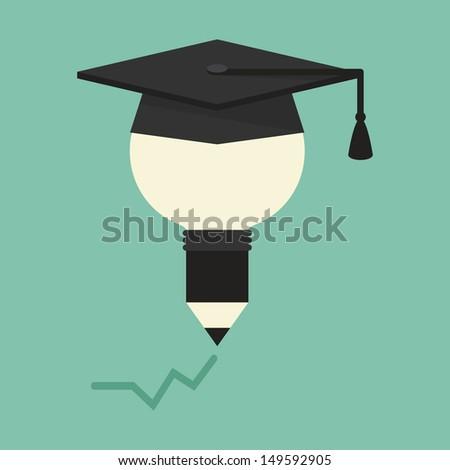 Education concept, vector - stock vector