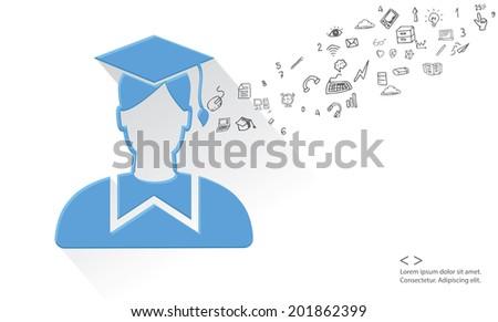 Education concept,vector - stock vector