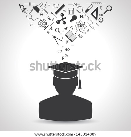 education concept. vector. eps10 - stock vector