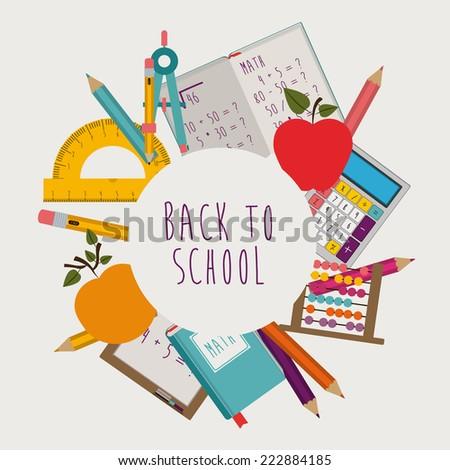 Education design over white background, vector illustration - stock vector