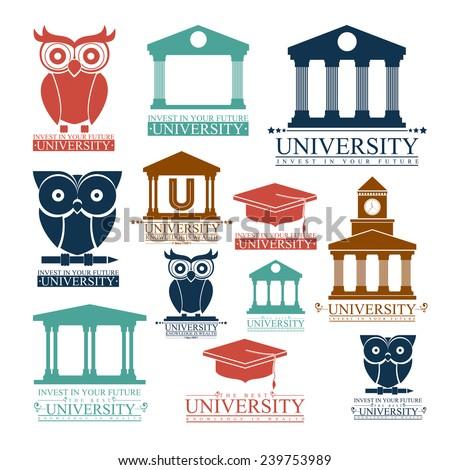 Education design over white background,vector illustration. - stock vector