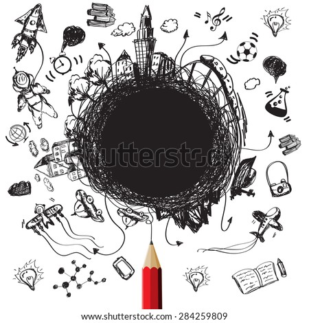 Education designs concept with blank for text create-vector - stock vector