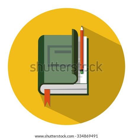 education flat icon - stock vector