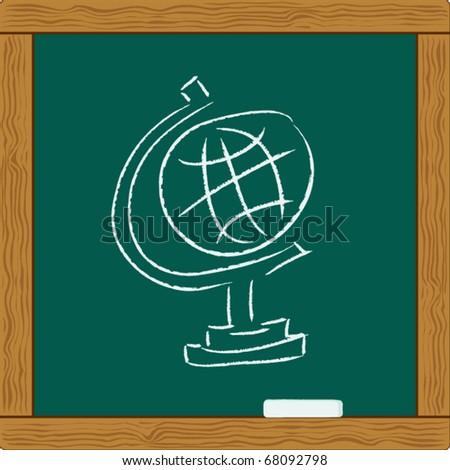 Education Globe. map - stock vector