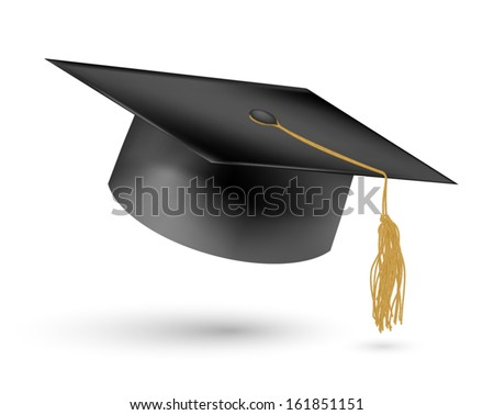 Education hat on White Background. - stock vector