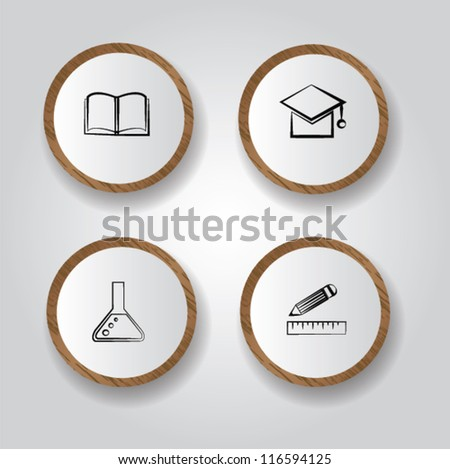 Education,icon set,Vector