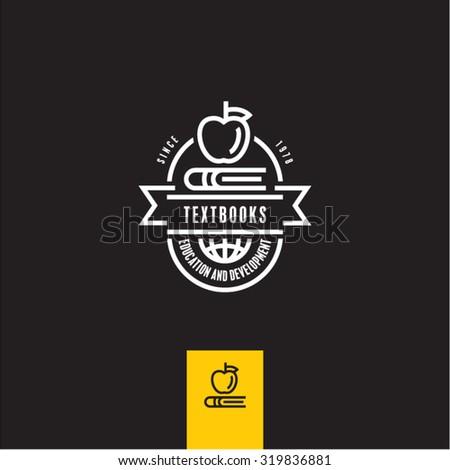 education icon, textbooks sign, School, University, Knowledge - stock vector