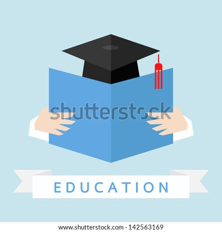 education icon, vector - stock vector