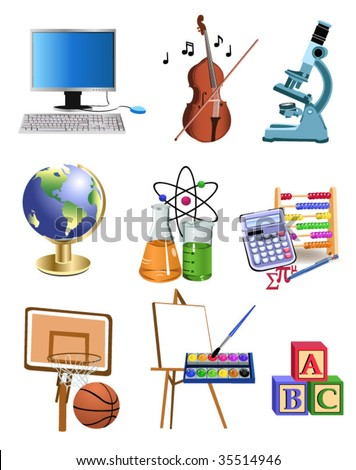 education icons - stock vector