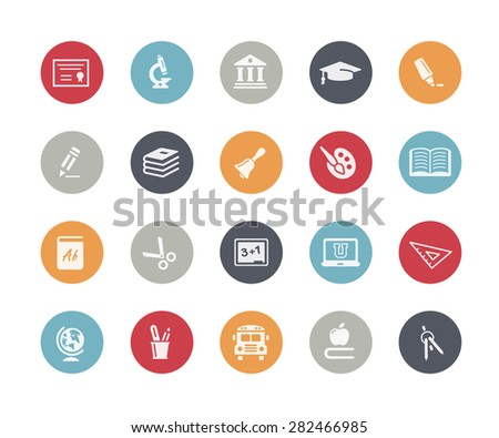 Education Icons // Classics Series - stock vector