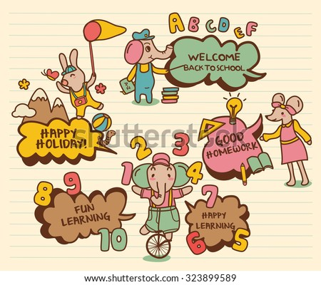 Education Icons dialogue, Back to School, Learning and Study - stock vector