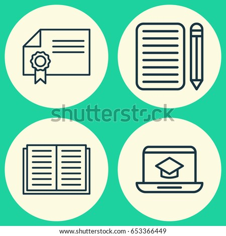 essay stock vectors images vector art shutterstock collection of distance learning diploma opened book and other elements