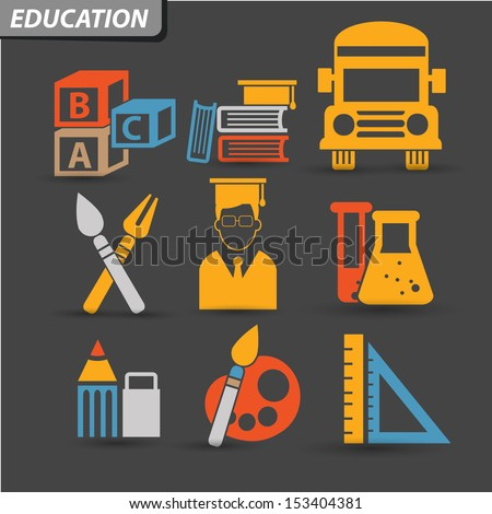 Education Icons,set 1,vector