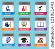 Education icons set - vector illustration - stock vector