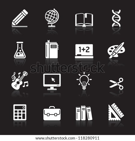 Education Icons set 1. Vector Illustration. More icons in my portfolio. - stock vector