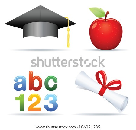 Education IconSet - stock vector