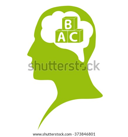 Education in mind - stock vector