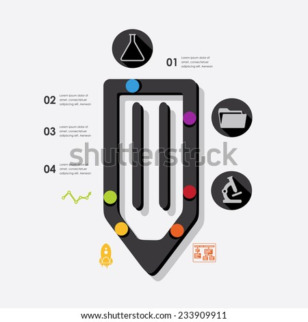 education infographic - stock vector