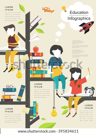 Infographic Ideas infographic template education : Education Infographic Template Design Books Pile Stock Vector ...