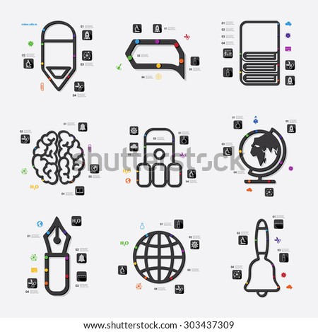 Infographic Icons Elements About Logistics Technology 497435182 on data center concept