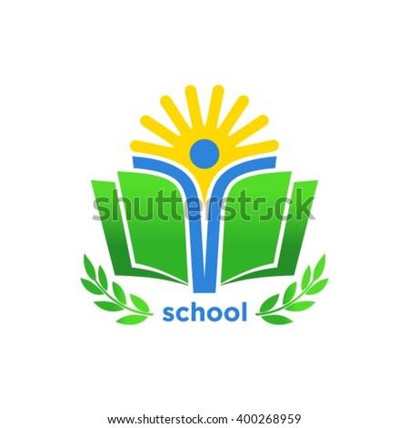 Education logo design - stock vector