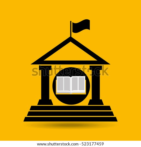 education opened book university vector illustration eps 10