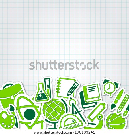 education school icon vector collection set