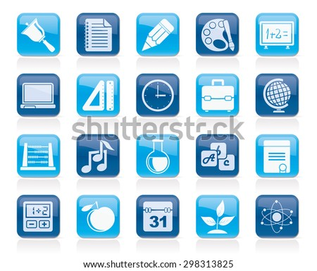 Education, science and studies icons  - vector icon set - stock vector