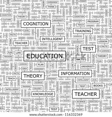 EDUCATION. Seamless vector pattern. - stock vector