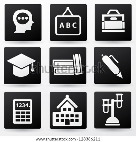 Education sign,icon set,vector - stock vector
