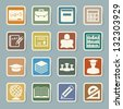 Education sticker icons set. Illustration eps 10 - stock vector