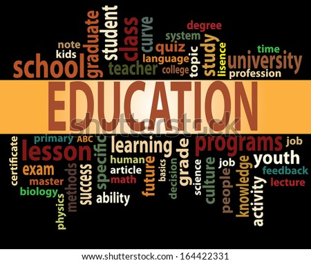 Education tag cloud vector artwork