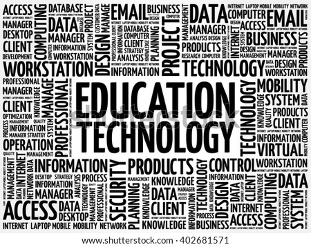 Education Technology word cloud concept - stock vector