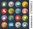 Education theme flat icons - stock