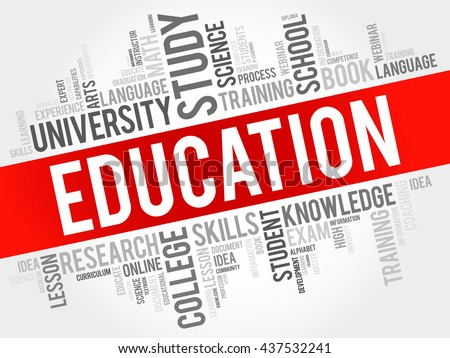 EDUCATION word cloud, education business concept - stock vector