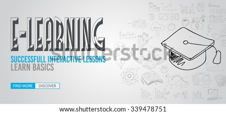 Educational and Learning concept with Doodle design style :teaching solution, studies, creative ideas. Modern style illustration for web banners, brochure and flyers. - stock vector