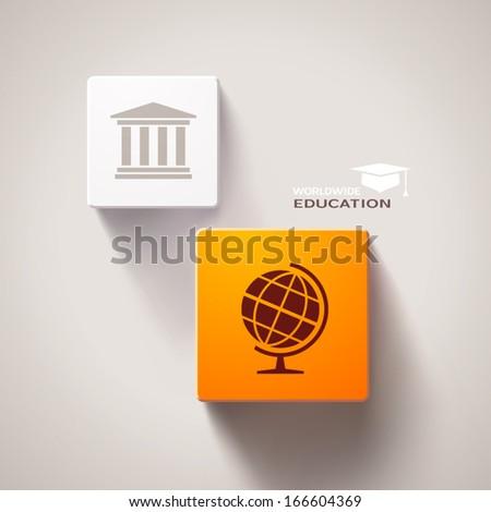 Educational concept. Eps10 vector - stock vector