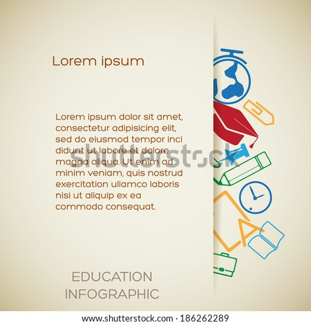 Educational design concept. Background. Vector Illustration, eps10, contains transparencies. - stock vector