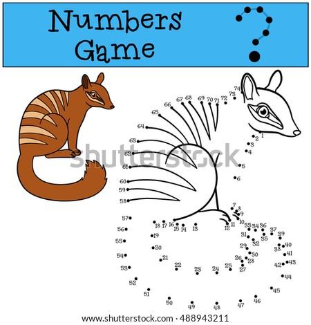 Dot Dot Numbat Educational Kid Game Stock Vector 404843179
