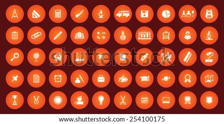 educational icon set