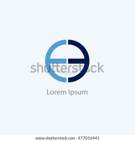 ee letters logo o e letter stock vector royalty free 477016441