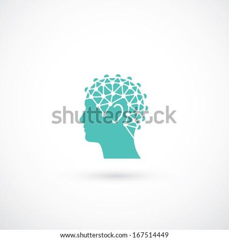 EEG test symbol - vector illustration - stock vector