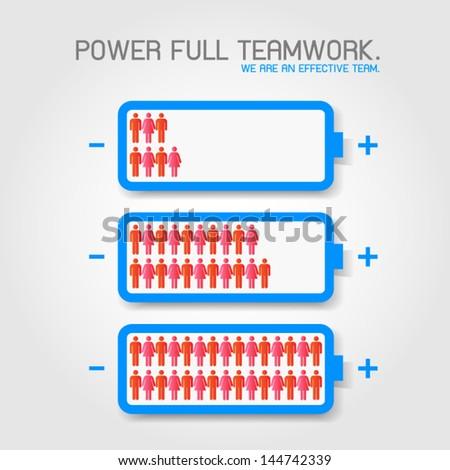 Effective team. - stock vector