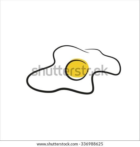 Egg icon - stock vector