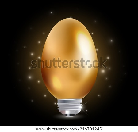 egg with light bulb Idea - vector eps1 - stock vector